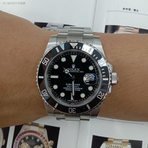台中流當手錶拍賣 原裝 勞力士 116610 黑水鬼 自動 男錶 9成5新 喜歡價可議 ZR510