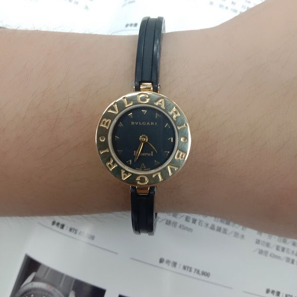 台中流當手錶拍賣  原裝 BVLGARI 寶格麗 B ZERO 1 18K金 石英 女錶 9成5新 喜歡價可議 ZR506